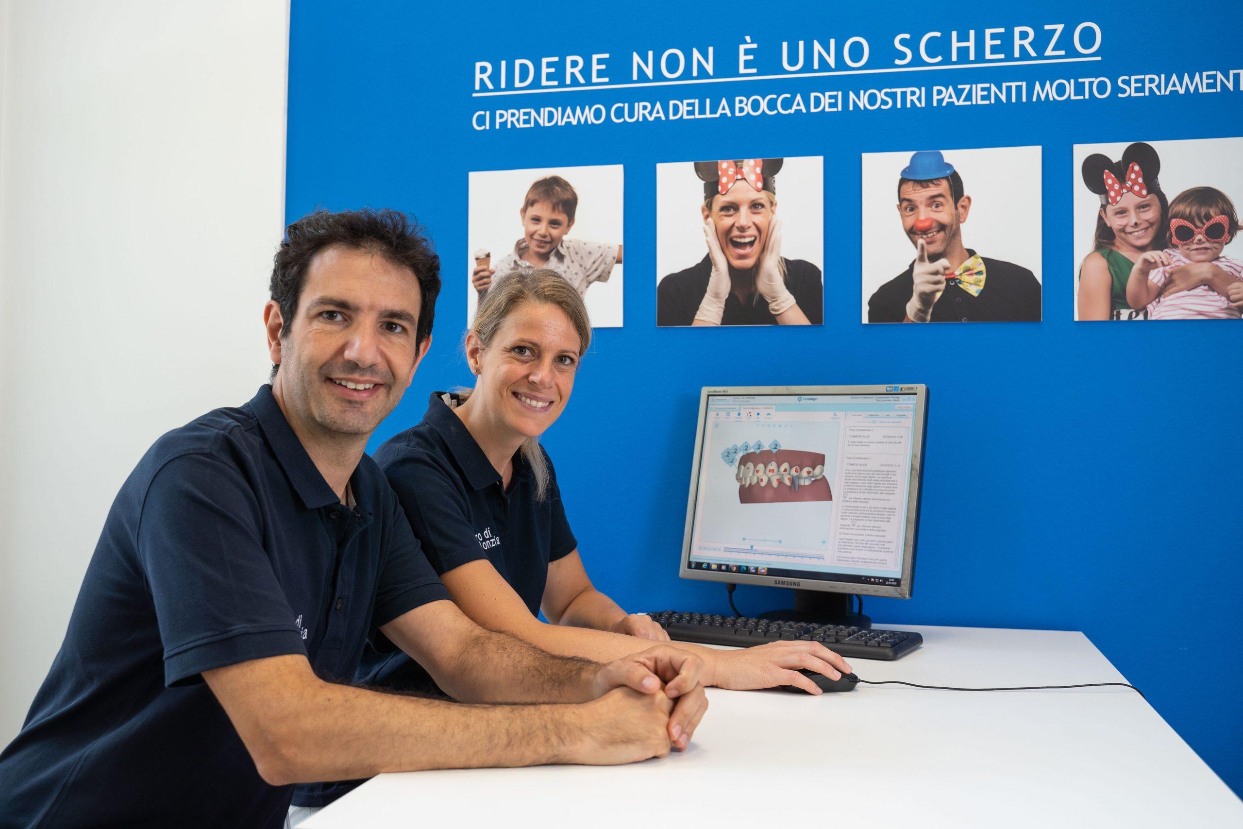 Carlo e Ilaria, i dentisti del Centro di Ortodonzia di Genova